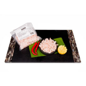 The Upper Scale Frozen Cooked & Peeled North Atlantic Prawns 1x454G BAG